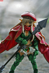 Alleyne (esper zero) Tags: red woman anime cute sexy green girl hat japan female toy toys actionfigure japanese doll manga hobby collection queens figurines blade collectible figures collectibles pvc alleyne revoltech bfigure jfigure queensblade nr34 queenblade alleynequeensblade revoltechqueensblade