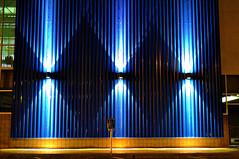 Blue Diamonds (A Richie) Tags: blue arizona phoenix wall night lights downtown az diamondpattern rooseveltrow