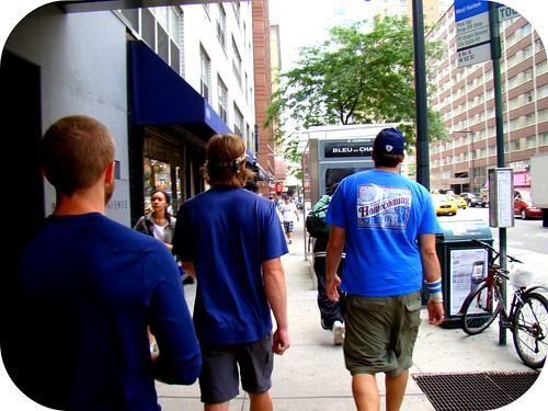 The boys strollin' the streets of NY