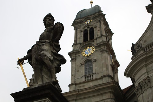 Statue Outside Einsiedeln