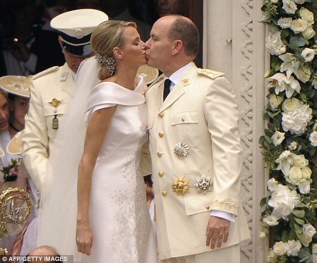 The Princess bride  Monaco  Charlene and Prince Albert ceremony The Princess bride  Monaco  Charlene and Prince Albert ceremony  16
