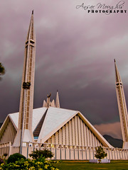 A view of the Faisal masjid (BoinK !) Tags: pakistan beautiful canon interesting slow mosque shutter clowdy masjid faisal s90 islamabad