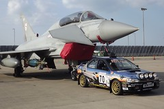 Waddington 2011 - Eurofighter + Rally Car (Flight Fantastic) Tags: airplane flying fuji aircraft lincolnshire airshow finepix spotting waddington 2011 s4000 waddington2011
