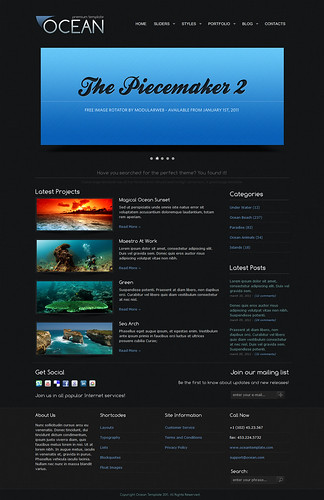 OCEAN Premium Template — Main Page by ZERGE_VIOLATOR