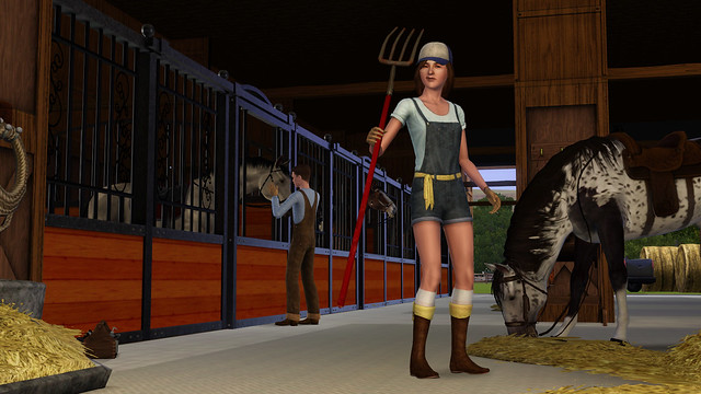 The Sims Pets Stable Worker