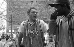 Occupy Wall Street, NYC (RenaGinz) Tags: nyc newyorkcity 11 d76 financialdistrict neopan400 summilux lowermanhattan leicam6 zuccottipark 95minutes leica35mmf14 occupywallstreet wallstreetoccupied occupiedwallstreet