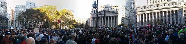 Panorama of #OccupyWallStreet from the west side