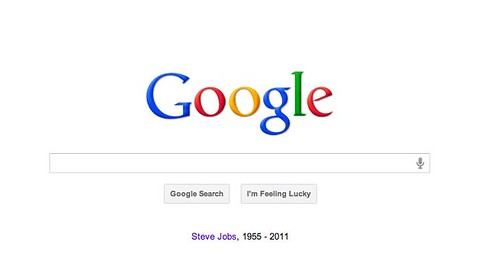 Even Google commemorates Steve Jobs on its home page