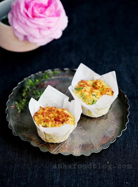 Zucchini + cheese muffins
