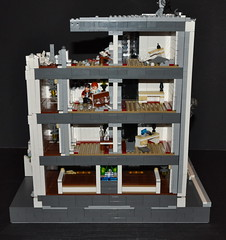 LEGO Halo: Reach - Project: New Alexandria (Highrise) ([Renegade]) Tags: new city alexandria project hotel jackal lego halo courtyard drop troopers fallen orbital highrise shock marines reach skyscaper brute grunts 2011 civilians brickcon odst