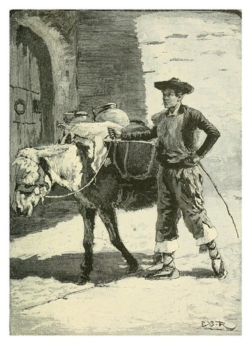 018-Transporte de agua en Andalucia-Spanish vistas-1883- George Parsons Lathrop