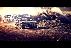 (deNNis-grafiX.com) Tags: sun cars car race track mud action crash stock racing dirt dust sonne dreck stockcar altlandsberg unfall staub 2011 autorennen berschlag