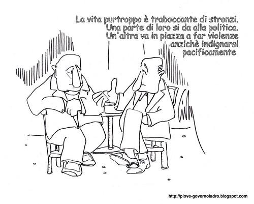 Gruppo di stronzi, rovina la giornata agli indignados by Livio Bonino