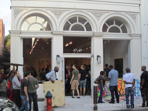 Outside a Philidelphia art gallery on First Friday