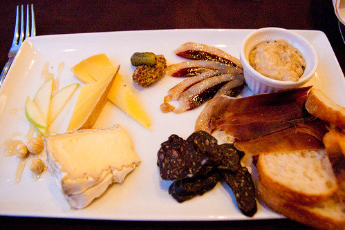 Meat and Cheese selection at Elements Contemporary Cuisine