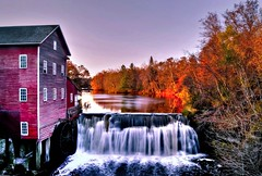 Autumn Mill (Doug Wallick) Tags: autumn windows color reflection mill water wisconsin flow waterfall colorful historic augusta hdr picnik dells lightroom a230 photomatix mygearandme mygearandmepremium mygearandmebronze mygearandmesilver mygearandmegold