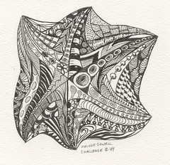 tangle within a tangle challenge 44 (vicmelhorse) Tags: penandink zentangle