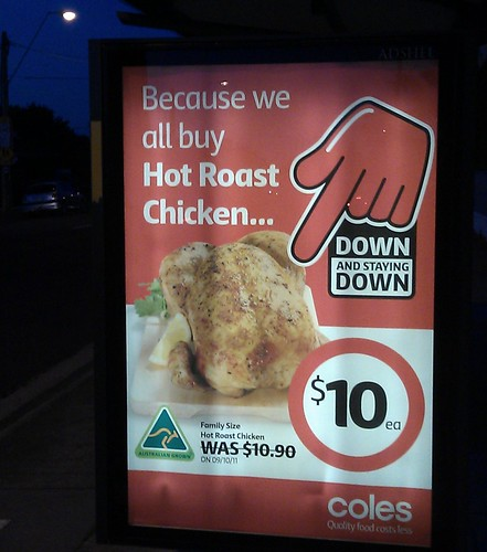 Coles: Roast chicken $10