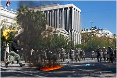 19/10/2011 Athens riots: Greek general strike. (angel.tz.) Tags: street fire riot nikon protest hellas police athens greece imf riots crisis riotpolice teargas d300 syntagma austeritymeasures angelostzivelekis tzivelekis
