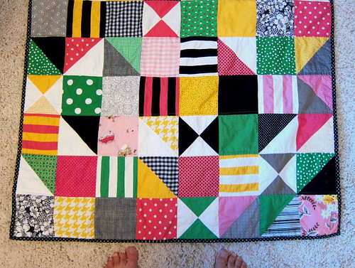 mod baby quilt, take 2