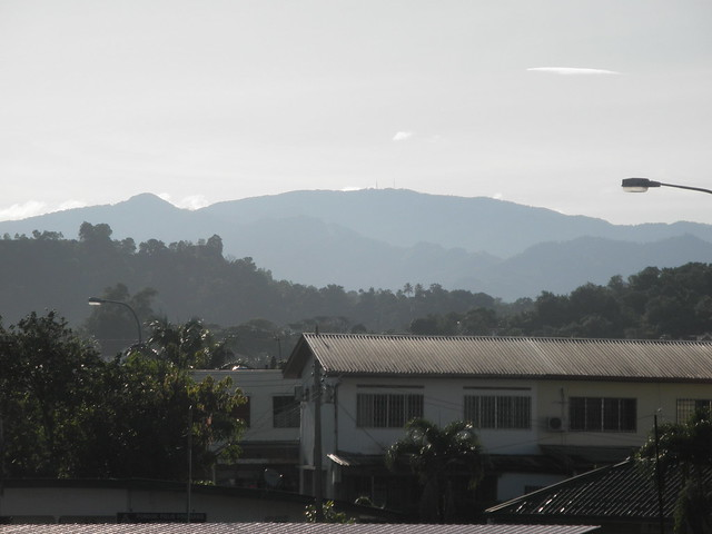 Mount Alab From Kota Kinabalu City