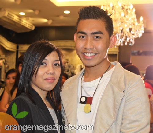 Renan with Cecil Zamora-Van Straten at the Freeway x Manansala fashion show