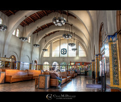 San Diego Train Station (Chad McDonald) Tags: california ca santafe building station train canon san downtown arch chad diego hdr mcdonald xsi photomatix 450d mcdonaldc
