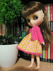 no shoes (Suedehead) Tags: home diy doll blythe petunia knitted viva cardigan cabled 2011 middie
