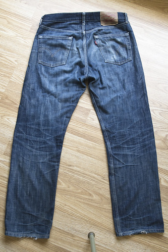 raw jean denim levis processed shrinktofit