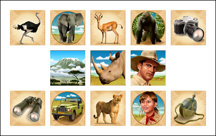 free White Rhino slot game wild symbol