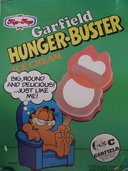 1980s Tip-Top Ice Cream Garfield Hunger Buster Advertising Poster - New Zealand (NZCollector) Tags: new streets ice advertising poster promo top cream paddle zealand tip posters packaging walls promotional garfield popsicle tiptop kiwiana