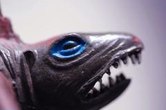 Dinosaur Toy Macro (Josh Rokman) Tags: macro face toy fossil ancient dino dinosaur prehistoric