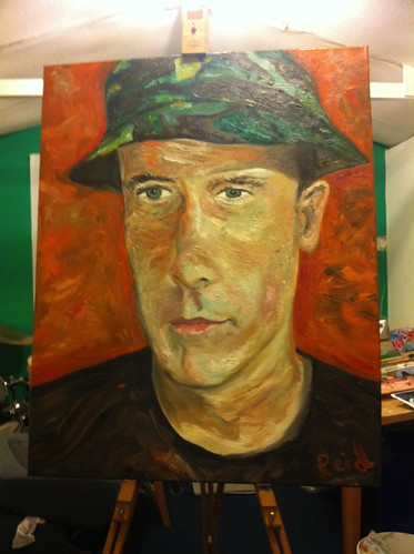 Oil on canvas - Kevin by reid1930