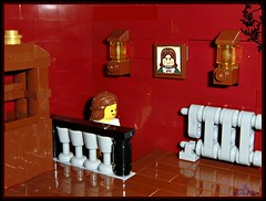 Lego -classic Interior- set #6 (=DoNe=) Tags: flowers house classic set by table chair stair lego furniture 5 interior chest case made homemade custom done armchair drawers furnitures legoclassicinteriorset6