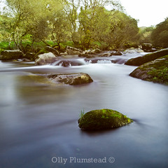 Dartmoor's Silky River (Olly Plumstead) Tags: uk blue trees sky blur green water rock canon river landscape waterfall movement rocks long exposure silk sigma stop devon filter le nd land pro geography geology olly milky 1020 dartmoor hitech silky plumstead 10stop 450d prostop