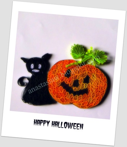 Quilling - Halloween Card by anastasiaw2008