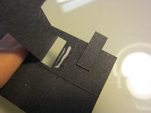Glue the strip onto your bracket to make a very precise slot