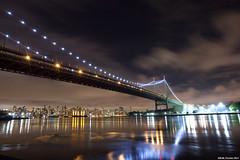 Triboro Bridge (LilFr38) Tags: city newyorkcity longexposure sky usa newyork water night clouds reflections lights eau lumire manhattan nuages nuit reflets canonef1740mmf4lusm ville astoriapark expositionlongue lilfr38 canoneos5dmarkii bridgeburningfoofighters