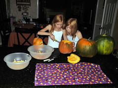 girls carving a pumpkin 2 (houstonryan) Tags: family girls art halloween girl print pumpkin fun photography utah photo photographer ryan pumpkins knife houston carving carve knives carver houstonryan