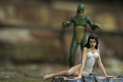Unsuspecting (3rd-Rate Photography) Tags: monster canon movie toy florida action 7d figure jacksonville creaturefromtheblacklagoon gillman universalmonsters toyphotography julieadams diamondselect earlware 3rdratephotography