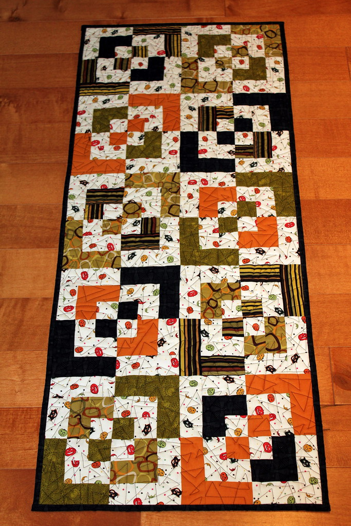 Bento Box Halloween Table Runner