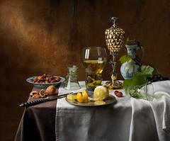 Still Life with Pineapple Cup (after Pieter Claesz) (kevsyd) Tags: stilllife pineapplecup pieterclaesz 645d kevinbest dutchstilllife