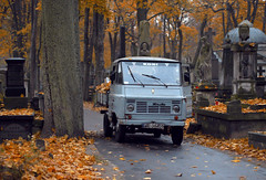 uk (LAZUR tomek pietek) Tags: old car all saints olympus warsaw cementary f18 45mm powzki uk