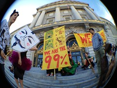 In front of SF City Hall awaiting Board of Supervisors resolution in support of #OccupySF #OWS