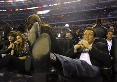 Schwarzenegger with his feet up (cowboy boots) (TBTAOTW2011) Tags: black feet up leather relax big cowboy boots arnold schwarzenegger governor