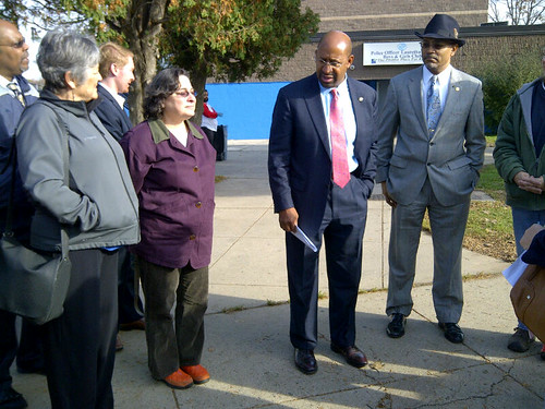 Mayor Nutter tours Tacony Creek Park