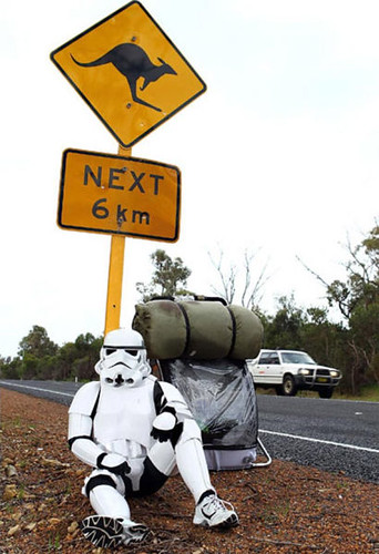 Aussie storm trooper