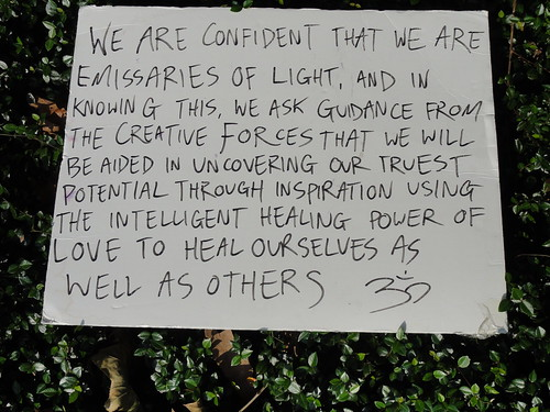 A sign from the Occupy Orlando rally.