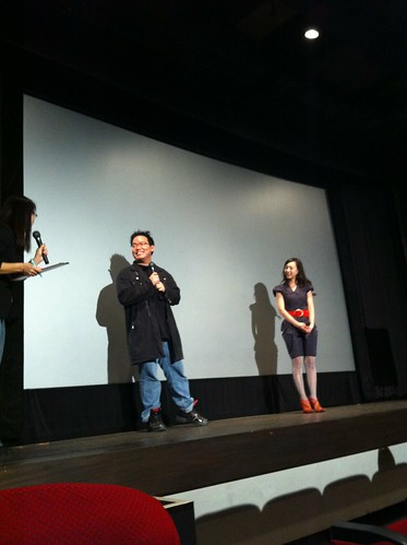 Kiki and I saying hi to audiences before screening