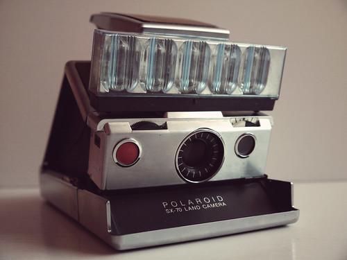 Polaroid SX-70 with flash